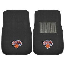 Fanmats 17614 NBA New York Knicks 2-Piece Embroidered Car Ma
