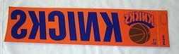 "1970's New York Knicks 4"" X 14"" Bumper Sticker Old School Vi"