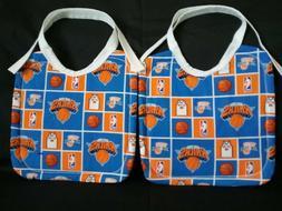 2 NEW HANDMADE LARGE COTTON NEW YORK KNICKS NBA BABY/TODDLER