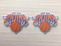 2x New York Knicks Car Bumper Laptop Window Wall Vinyl Die C