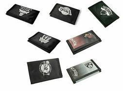 Basketball NBA Black Tri-Fold Wallet Fastening Team Crest Mo