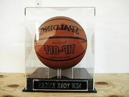 New York Knicks Basketball Display Case For Your Team Signed
