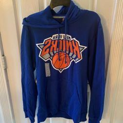 NBA Brand New York Knicks NY Blue Hoodie Hooded Sweatshirt L
