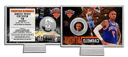 Carmelo Anthony Highland Mint Silver Coin Card with Stand  S