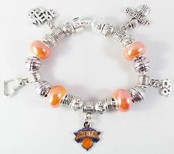 GLASS BEADS Official NBA NEW YORK KNICKS Basketball Charm Si