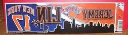 JEREMY LIN NEW YORK KNICKS #17 WINCRAFT BUMPER STRIP STICKER