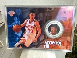 Jeremy Lin New York Knicks Mint Silver Coin Card