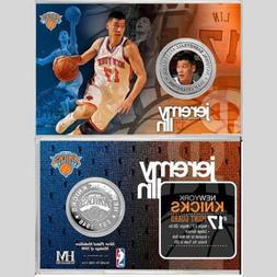 Jeremy Lin New York Knicks Mint Silver Coin Card with Stand