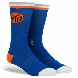 Stance Mens Knicks Logo Socks Large Blue