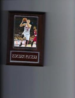 KRISTAPS PORZINGIS PLAQUE NEW YORK KNICKS NY BASKETBALL NBA