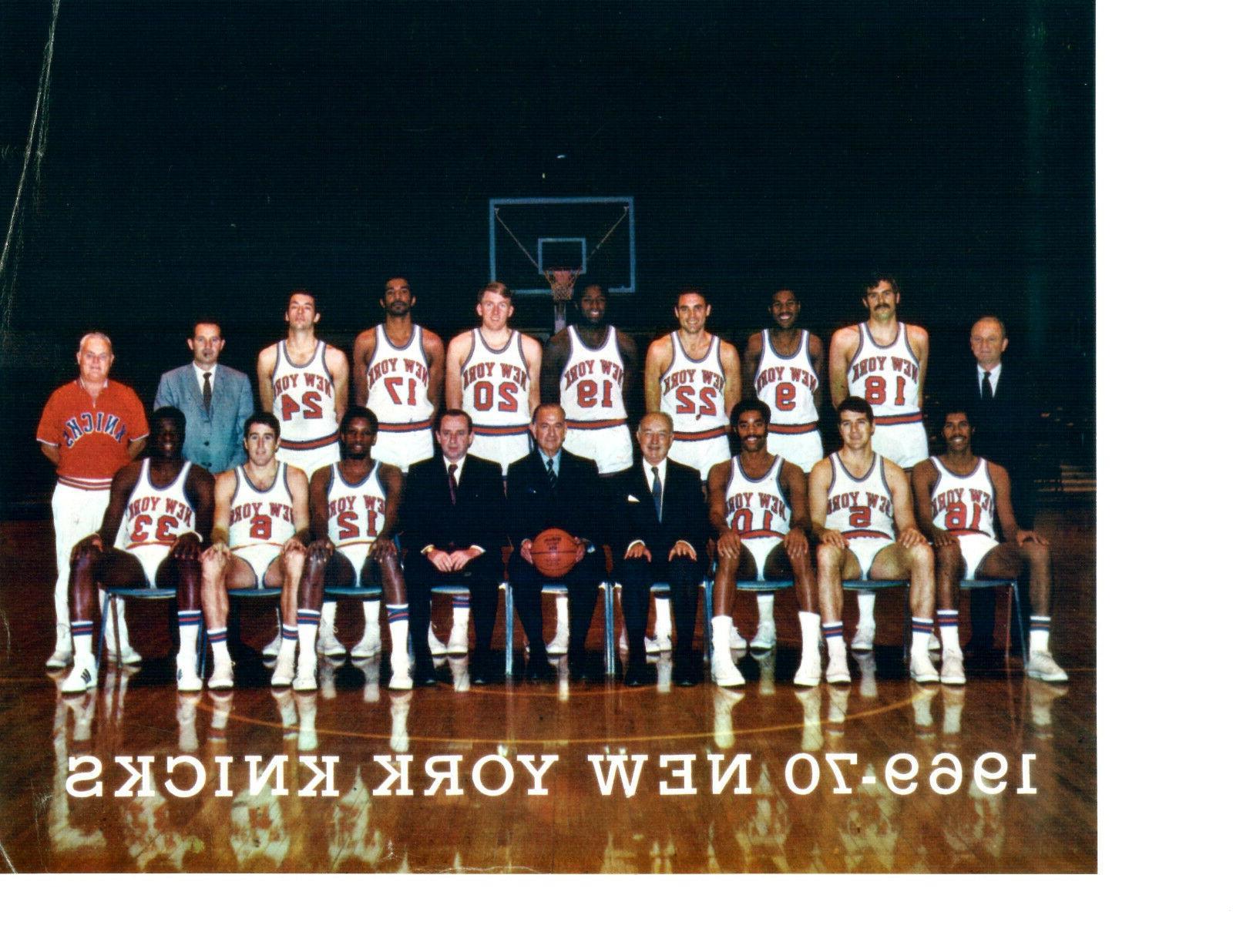 1969 new york knicks 8x10 team photo