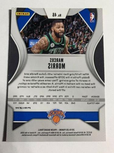 2019 Pink Ice Marcus Morris New Knicks