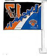 Car Window Flag - NBA New York Knicks  / Toronto Raptors Jer
