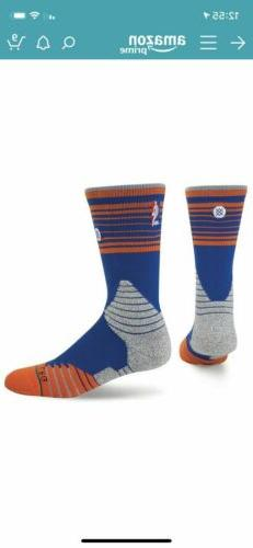Men's Stance Blue New York Knicks Core Stripe Crew Socks Siz