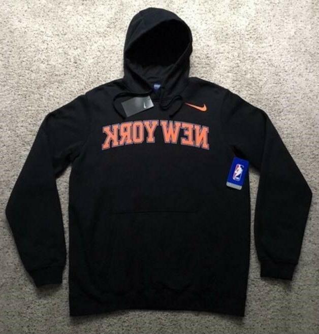 mens new york knicks basketball wordmark hoodie