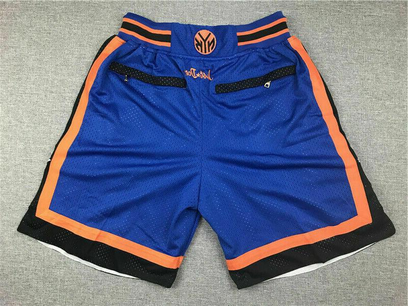 New York Basketball Shorts Blue/White