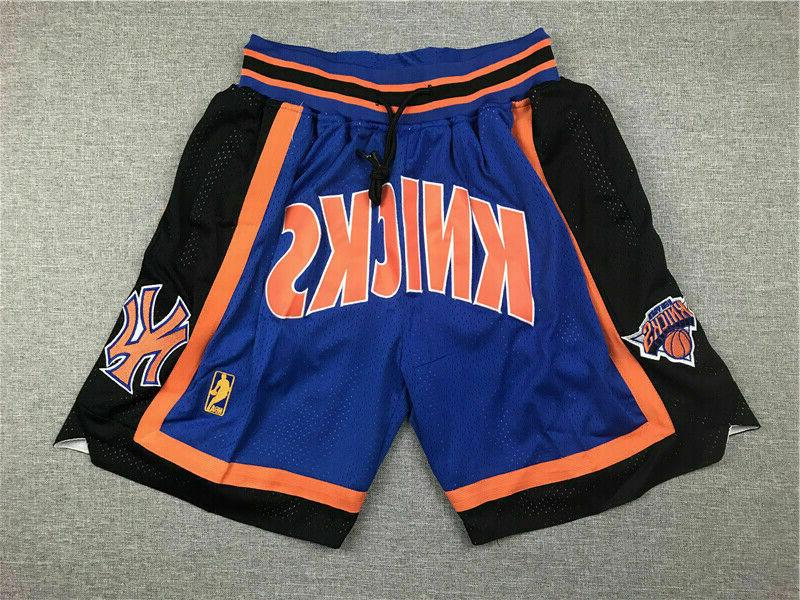 new york knicks basketball shorts with 4