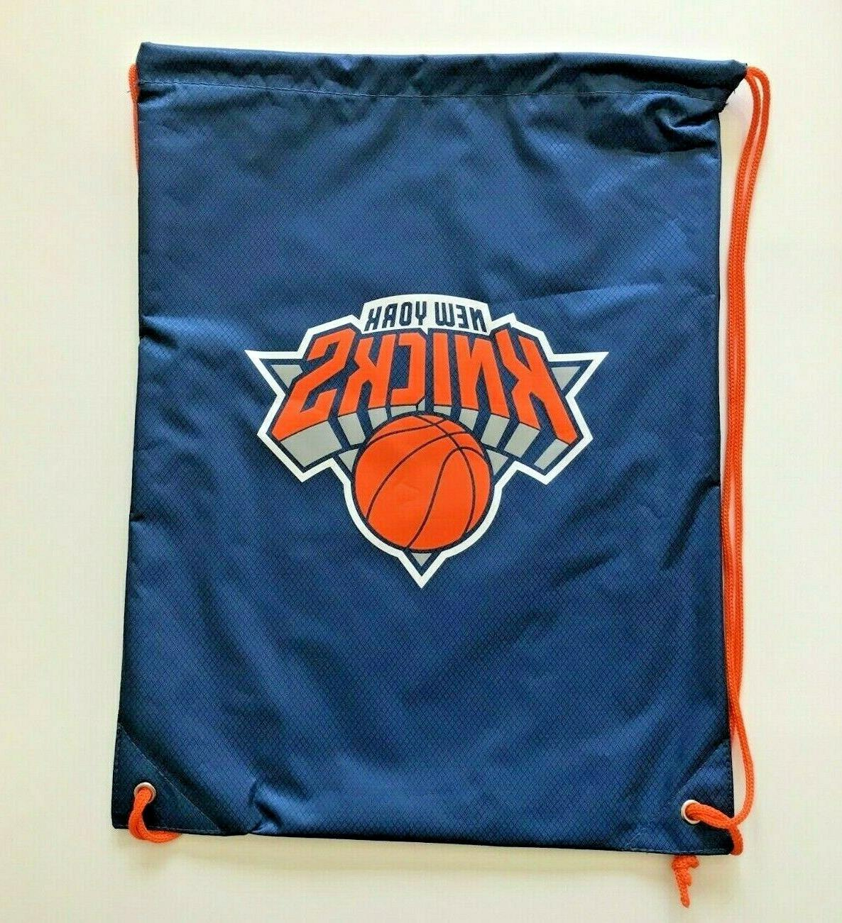 new york knicks drawstring bag logo heavy