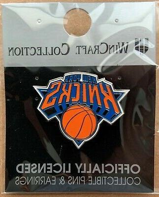 new york knicks logo lapel collector pin
