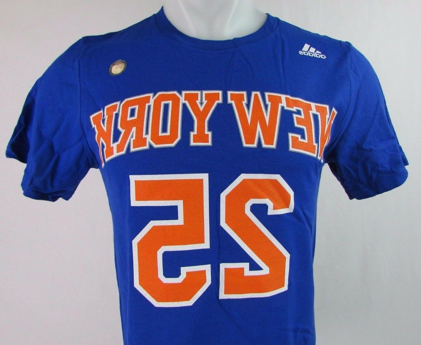 New Knicks #25 Rose' T-Shirt NBA adidas Blue