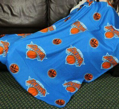 new york knicks nba basketball fleece throw