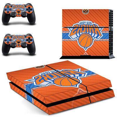 New York Knicks PS4 Skin Sticker Decal Vinyl Console+2 contr