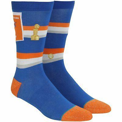 new york knicks trophy banner crew socks
