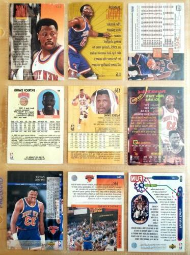 PATRICK EWING Knicks Lot Different NBA Trading Cards