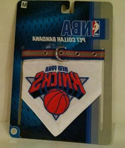 Medium Pet Collar Bandana NBA New York Knicks Basketball Dog
