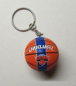 NBA Basketball New York KNICKS Spalding Ball KEY CHAIN Ring