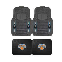 NBA New York Knicks 2-Pc & 4-Pc Deluxe Floor Car Truck Mat S