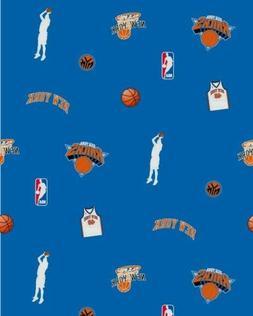 NBA NEW YORK KNICKS BLUE  FLEECE FABRIC 1.5 YARDS   54X58 IN
