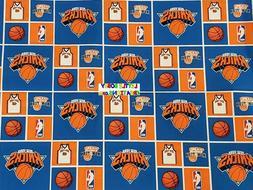 NBA NEW YORK KNICKS Cotton Fabric - 1/4 YARD - OOP & RARE