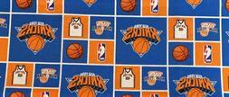 "NBA New York Knicks Cotton Fabric - 6"" x 40"" Remnant"