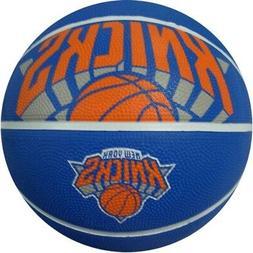 Spalding NBA New York Knicks Courtside Outdoor Rubber Basket