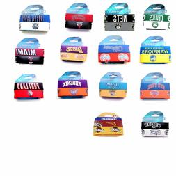 NBA rubber wrist band fan bracelet silicone 2 pack PICK your