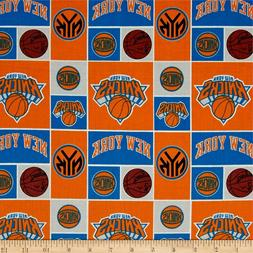 NBA Sports Broadcloth New York Knicks Patch 100% cotton Fabr