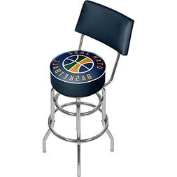 "Trademark NBA Utah Jazz 40"" Padded Swivel Bar Stool with Bac"