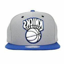New Mitchell & Ness NBA Snapback Hat - New York Knicks Grey
