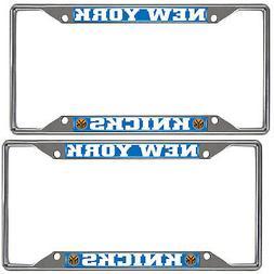 New NBA 2pc New York Knicks Car Truck Premium Chrome Metal L