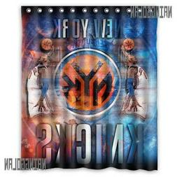 New Waterproof New York Knicks Basket Ball Custom Shower Cur