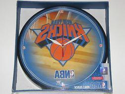 "New York Knicks 12"" Logo Round Wall Clock - Runs On One AA B"