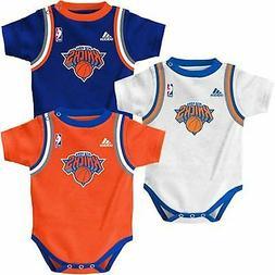 New York Knicks 3pc Jersey Tank Creeper Set Infant Baby Body