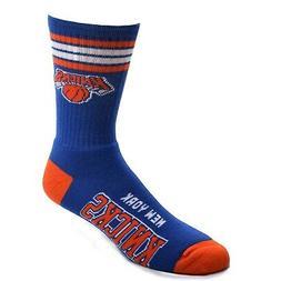New York Knicks For Bare Feet 4-Stripe Deuce Crew Socks