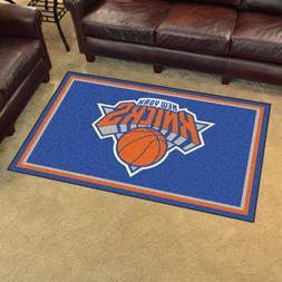New York Knicks 4' X 6' Decorative Ultra Plush Carpet Area R