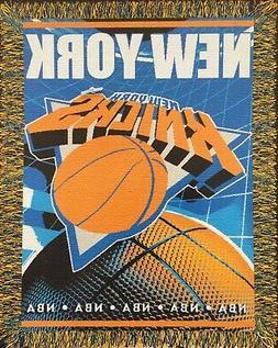 "New York Knicks 48""x 60"" Triple Woven Jacquard Knit Throw Bl"