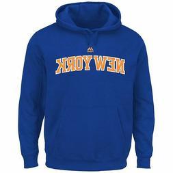 New York Knicks 4XL Majestic NBA Logo Blue Hoodie Sweatshirt