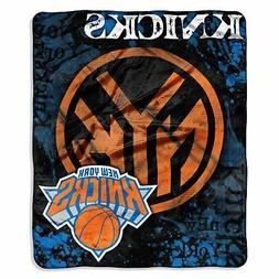 New York Knicks 50x60 NBA Drop-Down Royal Plush Raschel Thro