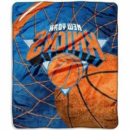 New York Knicks 50x60 NBA Reflect  Royal Plush Raschel Throw