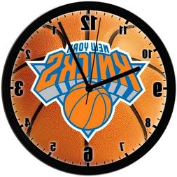 "New York Knicks 8"" EXCLUSIVE Homemade Wall Clock w/ Battery,"